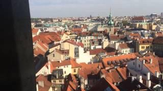 Панорама Праги со Староместской ратуши, Чехия