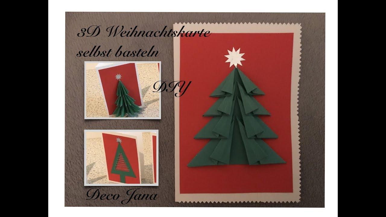 Diy Weihnachtskarte Mit 3d Tannenbaum Christmas Tree Selber