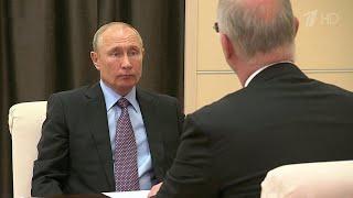 Фото Владимир Путин встретился с главой Российского фонда прямых инвестиций Кириллом Дмитриевым.
