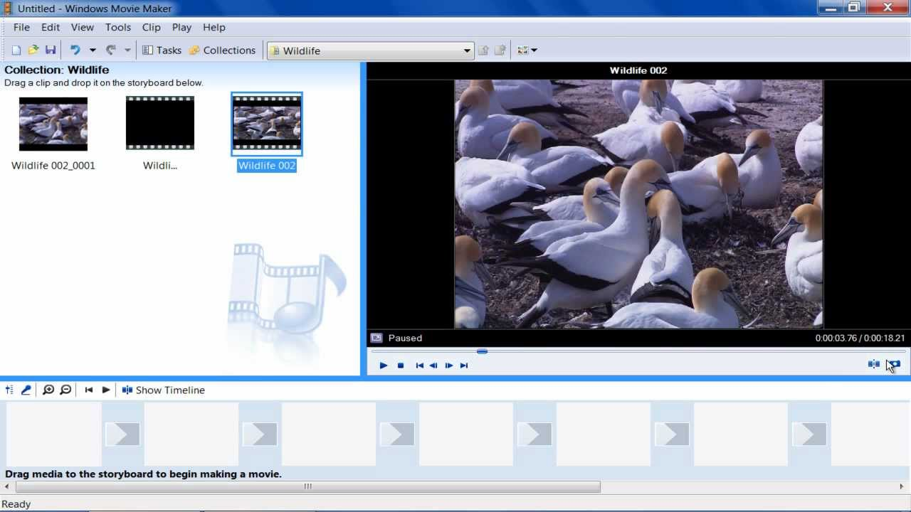 Capture with movie maker