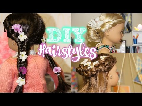 DIY AG HAIRSTYLES - American Girl Hairstyles for Summer! - 동영상