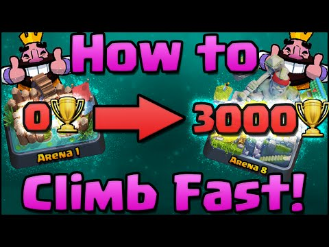 Clash Royale - How to Get Trophies Fast   Win More   Get to Arena 7 & 8 as F2P   Tips & Tricks