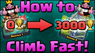 Clash Royale - How to Get Trophies Fast | Win More | Get to Arena 7 & 8 as F2P | Tips & Tricks