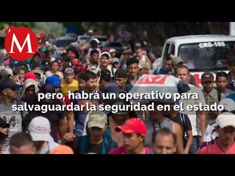 Caravana migrante llega a México