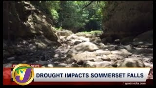 TVJ News Today: Somerset Falls in Portland Has Dried Up - August 5 2019