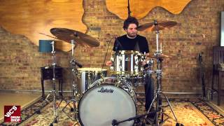Ludwig Stainless Steel Chief Edition Pro Beat 3-Piece Shell Pack with Geoff