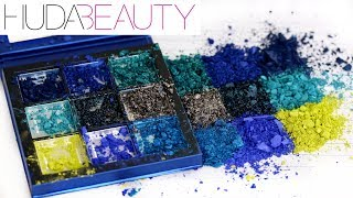 HUDA BEAUTY SAPPHIRE OBSESSIONS PALETTE - Weighing & Destroying | THE MAKEUP BREAKUP
