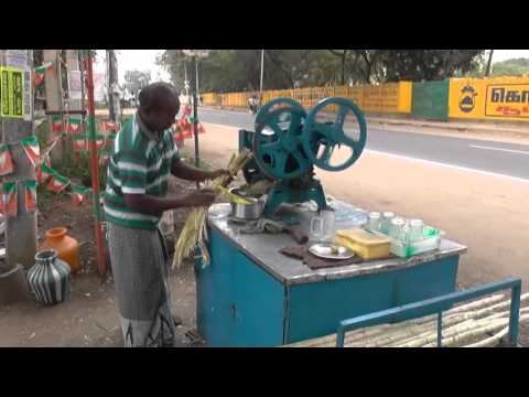 Sugar cane juice making Coimbatore Tamilnadu India