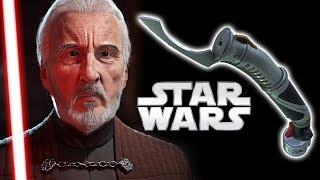 Why Does Count Dooku Use a Curved Lightsaber?? Star Wars Explained