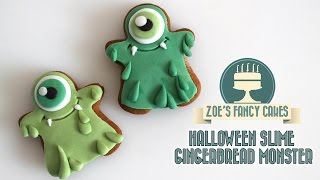 Halloween Slime Monster Gingerbread Men