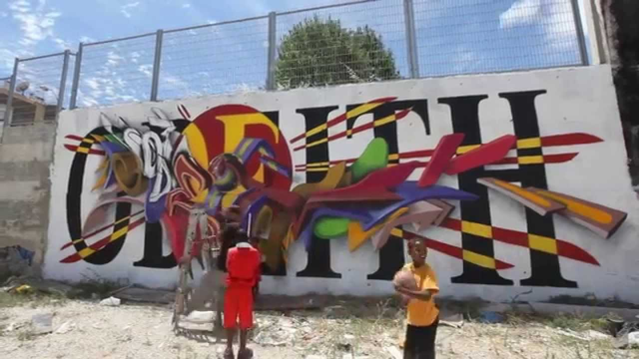 3d Graffiti Letters Combo Colors Odeith Youtube