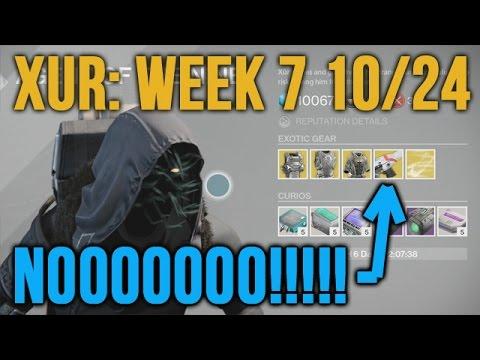 Destiny xur 10 24 week 7 location exotic suros regime grrrrr agent