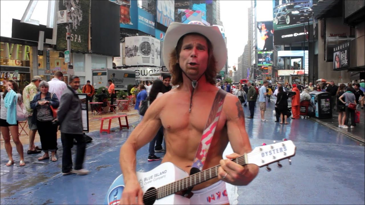 Naked cowboy sings happy birthday at times square youtube naked cowboy sings happy birthday at times square kristyandbryce Images