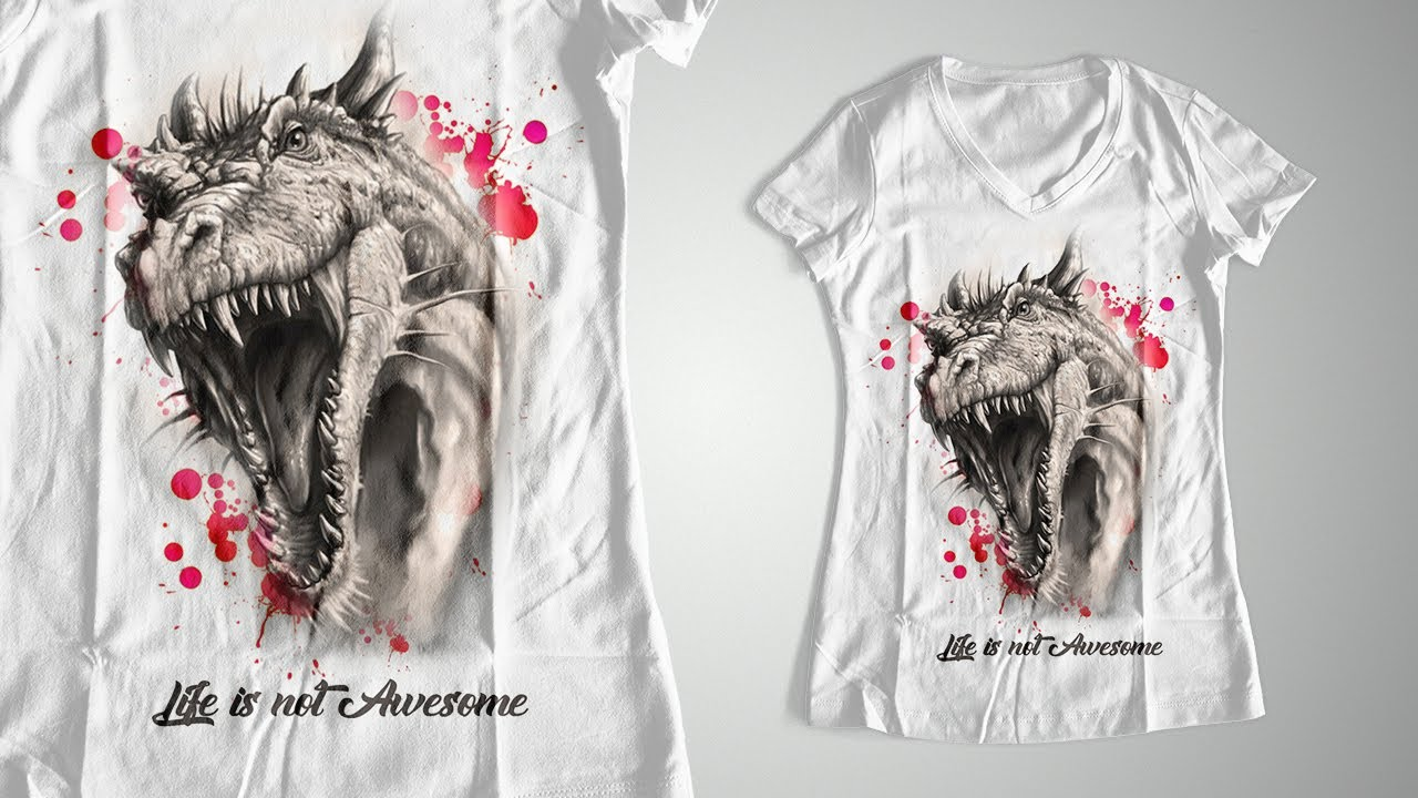Design t shirt easy - Easy Women S T Shirt Designs Tutorial In Photoshop