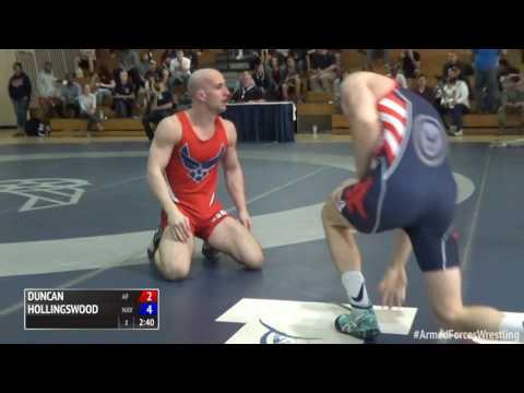 59 kg, Randy Duncan, Air Force vs Michael Hollingsworth, Navy