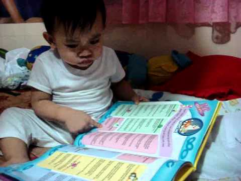 Baby RR at 1yr & 3mos reading 1000 words per minute!