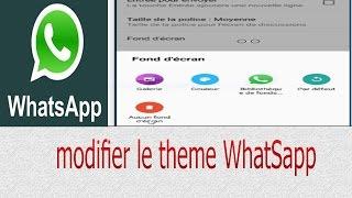 Comment modifier le thème WhatSapp