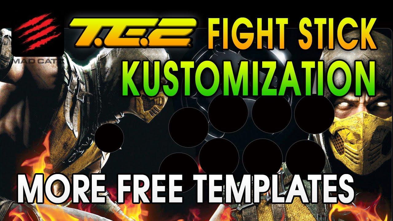 More TE2 Fight Stick Print-Ready Custom Templates Mortal Kombat X