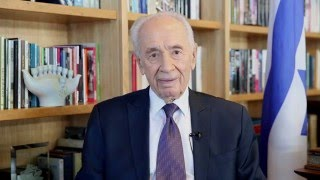 2016 New Years Greetings from 9th President of Israel Shimon Peres