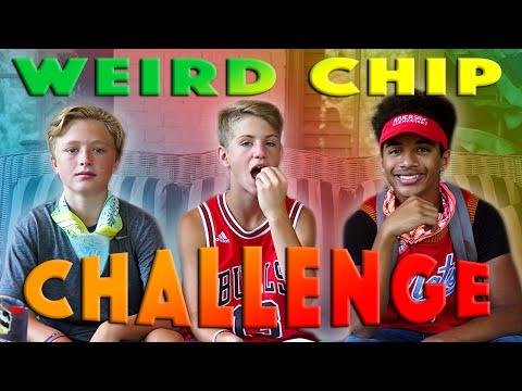 Weird Chip Challenge!  (MattyBRaps, Justin & Banks)