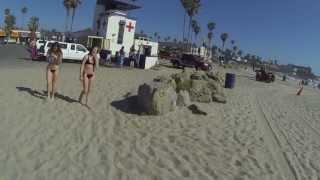 Ocean Park Beach, California - Walk in the Sand, 20 June 2013