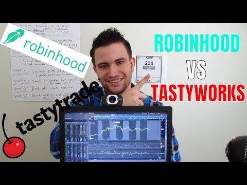 Trading options on tastyworks