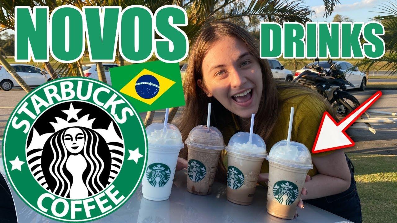 PROVANDO NOVOS DRINKS DO STARBUCKS BRASIL! CAROL SANTINA