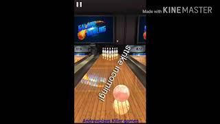 Strike on mobile bowling game :)