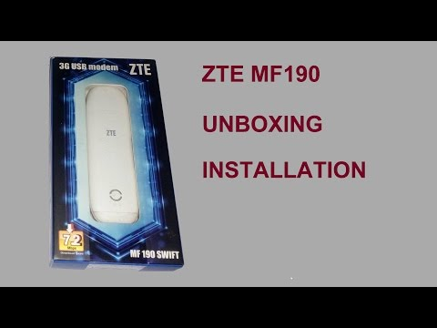 ZTE MF190 UNBOXING AND HOW TO INSTALL SOFTWARE - YouTube