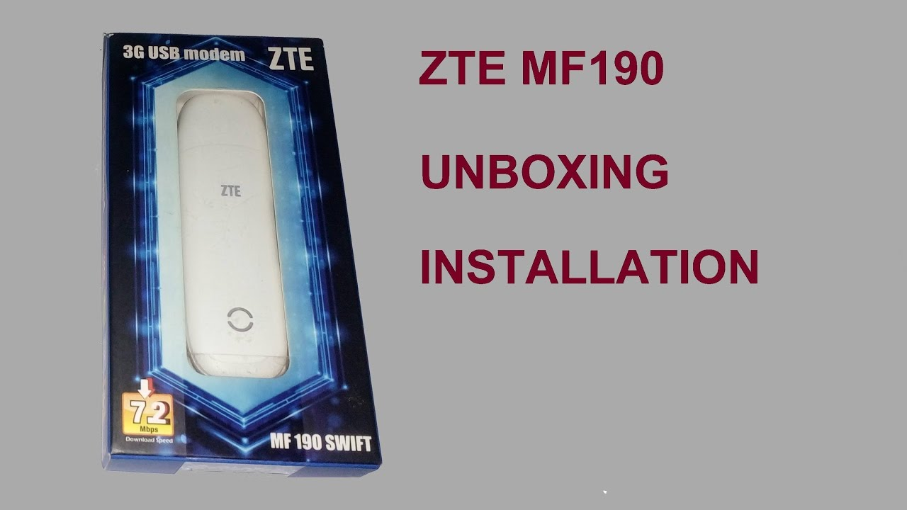 DRIVERS FOR BEETEL ZTE MF190