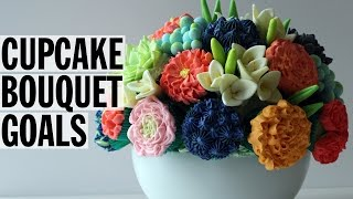 How to Make an Edible Cupcake Flower Bouquet   Food Network