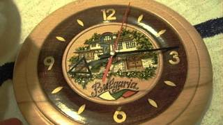 Handmade Wooden Bulgarian Wall Clock