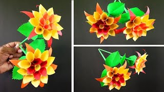 How to Make Beautiful Paper Flowers for Room Decoration | Very Easy DIY Crafts