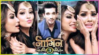 Mouni Roy, Adaa Khan And Arjun Bijlani OFF SCREEN Masti On Naagin 3 Sets