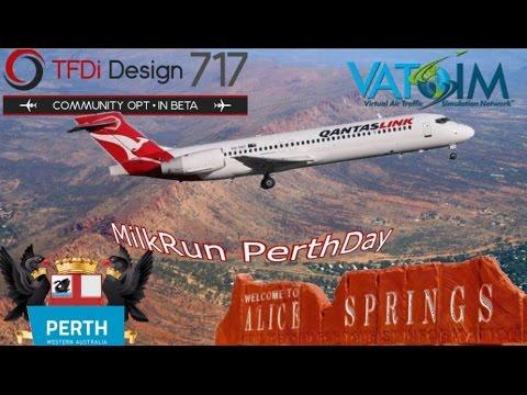 TFDi 717 on Vatsim - P3derth to Alice Springs