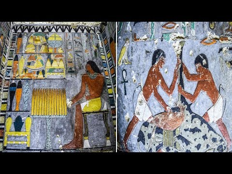 Ancient Egypt Nobleman's 4300 Year Old Tomb Filled With Colourful Wall Art
