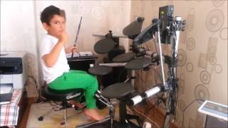 """""""Take Me Down"""" - Minecraft Parody of Drag Me Down by One Direction Drum Cover Rec 230716"""