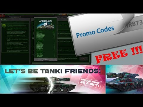 Tanki Online Promo Codes !!!! For Free ??? New Event : Let's Be Tanki Friends!