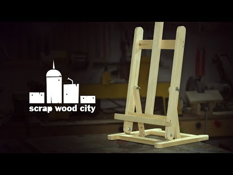 How to make a painter's folding desktop easel