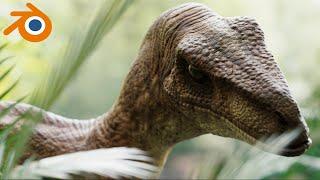 Raptor Jurassic park | VFX | 3D realistic Blender CG Animation