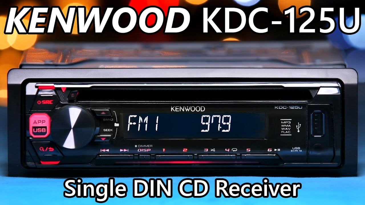 Kenwood Kdc 125u Single Din Stereo New Youtube Jvc Kd Avx77 Wiring Diagram