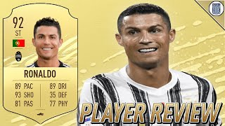 92 CRISTIANO RONALDO PLAYER REVIEW! - JUVENTUS PLAYER - FIFA 21 ULTIMATE TEAM