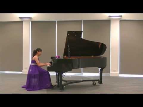 Nina Fan (13yrs) performed Mozart - Piano Sonata in B flat Major, K333. 3rd Movement
