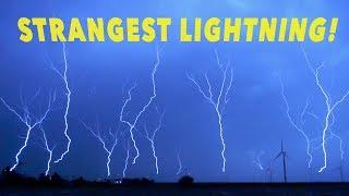 STRANGE UPWARD MOVING LIGHTNING - 14 Strikes UP at Once !!!
