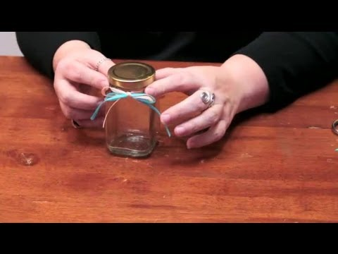 How To Decorate A Storage Jar With Ribbons : DIY Crafts