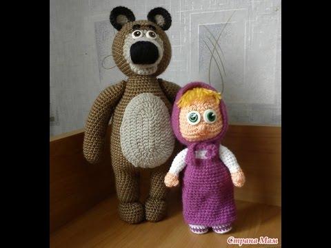 Медведь связать спицами из мультика маша и медведь