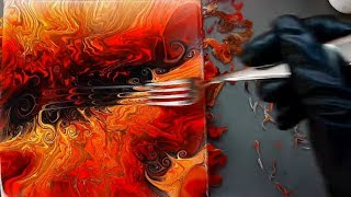 Abstract Painting -  Fiery swirl