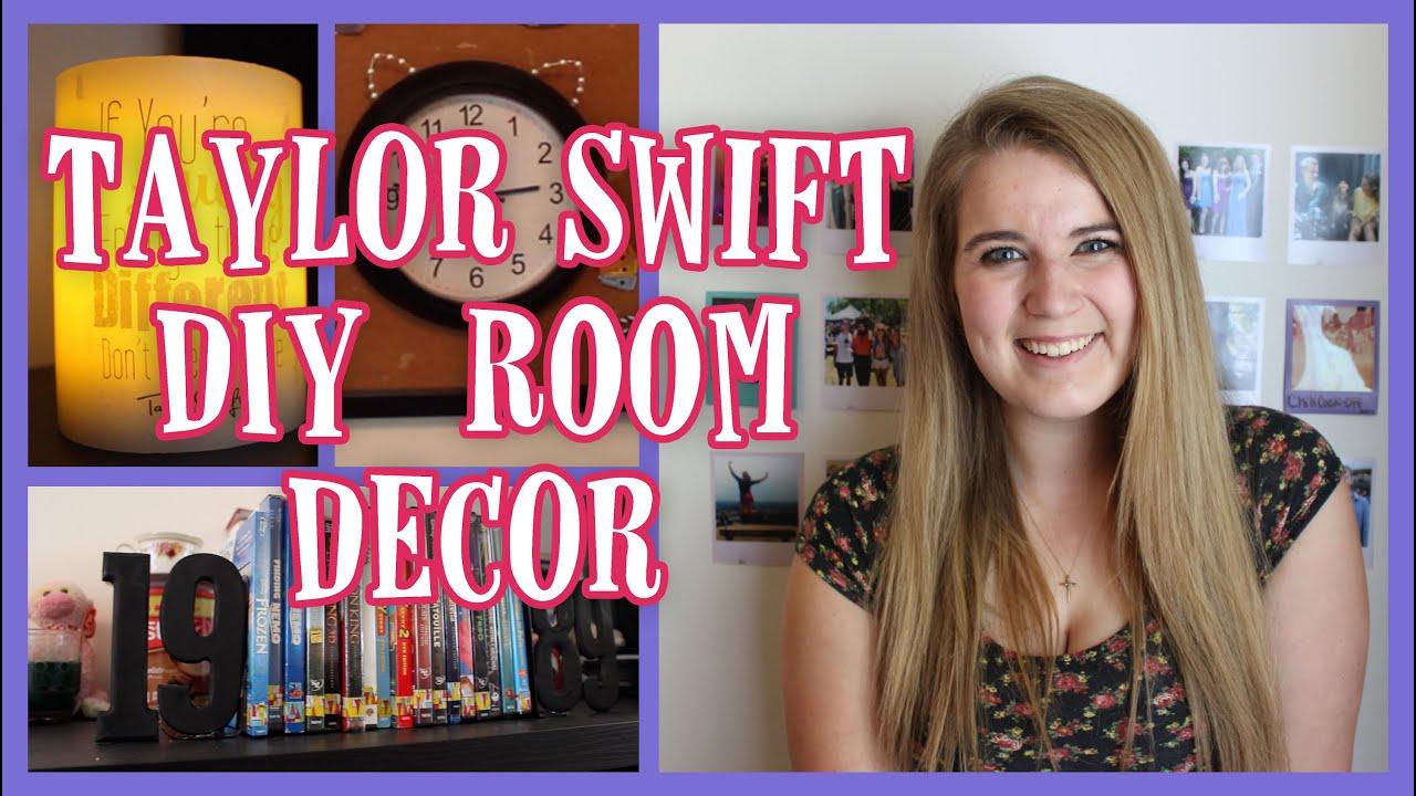 DIY Taylor Swift Room Decor | BowsByCarolyn   YouTube
