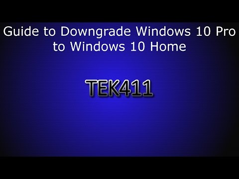 Guide to Downgrade Windows 10 Pro to Windows 10 Home Edition - YouTube