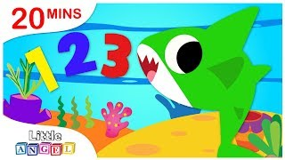 Counting Baby Sharks | Johny Johny Yes Papa | Where Are My Teeth? Nursery Rhymes by Little Angel